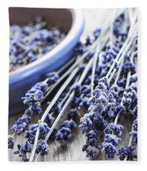 Dried Lavender Fleece Blanket
