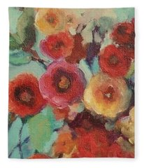 Floral Painting Fleece Blanket