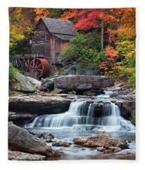 Glade Creek Grist Mill  Fleece Blanket