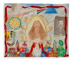 Invocation Of The Spectrum Fleece Blanket
