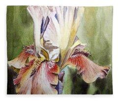 Iris Painting Fleece Blanket