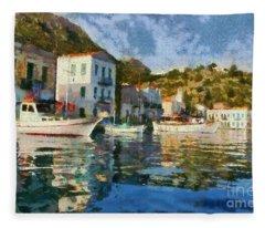 Kastellorizo Island Fleece Blanket