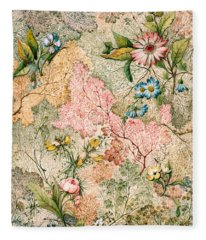 Marble End Paper  Fleece Blanket