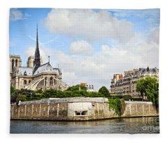 French Photographs Fleece Blankets
