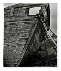 Old Abandoned Ship Fleece Blanket