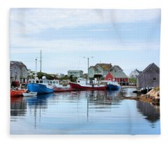 Peggys Cove Fleece Blanket