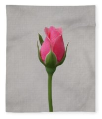 Pink Rosebud Fleece Blanket