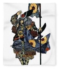 Soldier Samurai Fleece Blanket