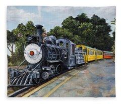 Sugar Cane Train Fleece Blanket