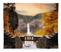 Taughannock Falls Fleece Blanket