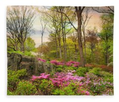 The Azalea Garden Fleece Blanket