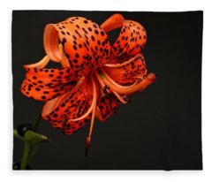 Tiger Lily Fleece Blanket