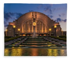 Union Terminal Fleece Blanket