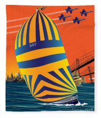 Usna Sunset Sail Fleece Blanket