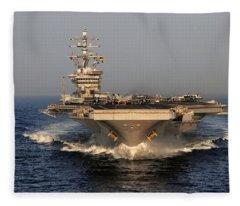Uss Dwight D. Eisenhower Fleece Blanket