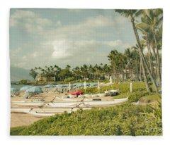 Wailea Beach Maui Hawaii Fleece Blanket