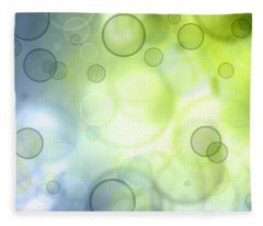 Abstract Circles 44 Fleece Blanket