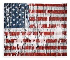 American Flag 49 Fleece Blanket