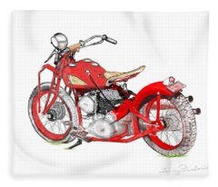 37 Chief Bobber Fleece Blanket
