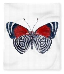 37 Diathria Clymena Butterfly Fleece Blanket