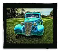 38 Chevy Coupe Fleece Blanket