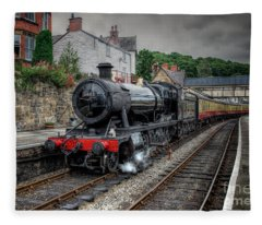 3802 At Llangollen Station Fleece Blanket
