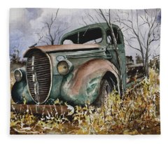 39 Ford Truck Fleece Blanket