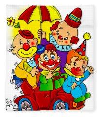 Clowns Series 01 Fleece Blanket