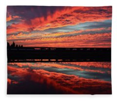 3d Sunset Fleece Blanket