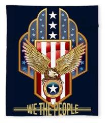 We The People Fleece Blanket