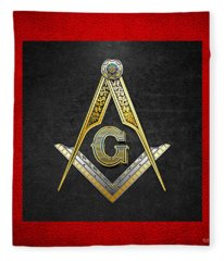 3rd Degree Mason - Master Mason Masonic Jewel  Fleece Blanket