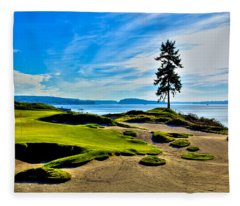#15 At Chambers Bay Golf Course - Location Of The 2015 U.s. Open Tournament Fleece Blanket
