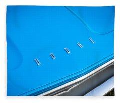 1972 Dodge 340 Challenger Painted  Fleece Blanket