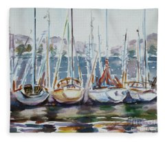 4 Boats Fleece Blanket