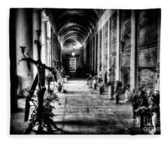 Cemetery Of Verona Fleece Blanket