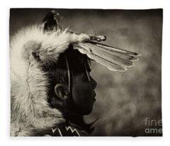 4 - Feathers Fleece Blanket