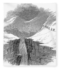 France Mont Blanc, 1851 Fleece Blanket