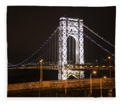 George Washington Bridge On President's Day Fleece Blanket