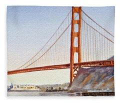 Golden Gate Bridge San Francisco Fleece Blanket