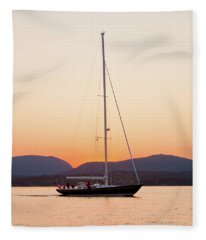 Hope M52 Yacht Sailing In Sea, Rhode Fleece Blanket
