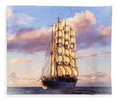 4 Mast Barque Fleece Blanket