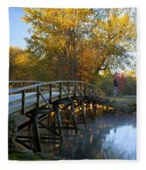 Old North Bridge Concord Fleece Blanket