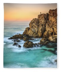 Penencia Point Galicia Spain Fleece Blanket