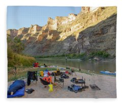 Rafting In Desolation And Gray Canyons Fleece Blanket