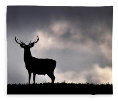 Stag Silhouette Fleece Blanket