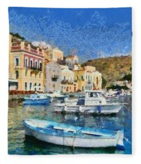 Symi Island Fleece Blanket