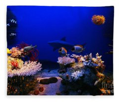 Underwater Scene Fleece Blanket