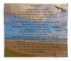 40- Wild Geese Mary Oliver Fleece Blanket
