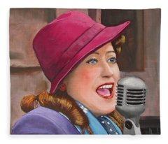 40s Singer Fleece Blanket