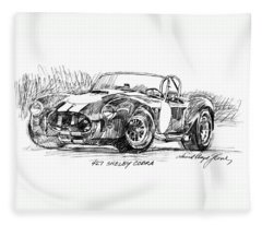 427 Shelby Cobra Fleece Blanket